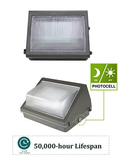 (4 Pack) 60W LED Wall Pack with Dusk-to-Dawn Photocell, IP65 Waterproof Outdoor Lighting Fixture, 200-300W HPS/MH Replacement, 7200lm 5000K 100-277Vac ETL&DLC Listed 10-Year Warranty by Kadision by kadision (Image #2)