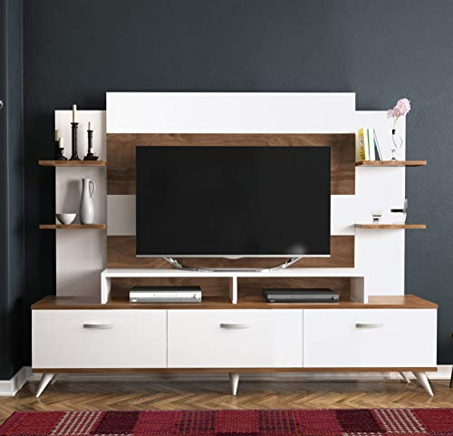 - Decorotika - Diana TV Stand and Entertainment Center - Living Room Furniture