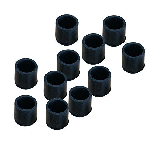 SODIAL 12 Pcs 16mm Inner Gummi Fusskappen Rohrkappen Schutzkappen Stuhlkappen Kappe R