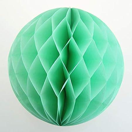 Wabenball 30cm Honeycomb Wabenbälle aus Seidenpapier Grün 5 Stück