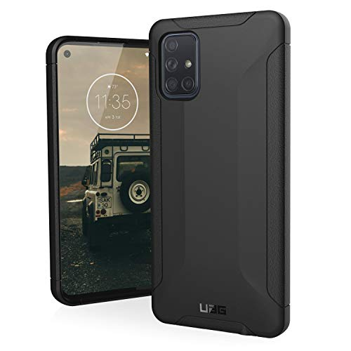 URBAN ARMOR GEAR UAG Designed for Samsung Galaxy A71 4G Case Scout [Black] Rugged Feather-Light Military Grade Drop Tested Protective Cover
