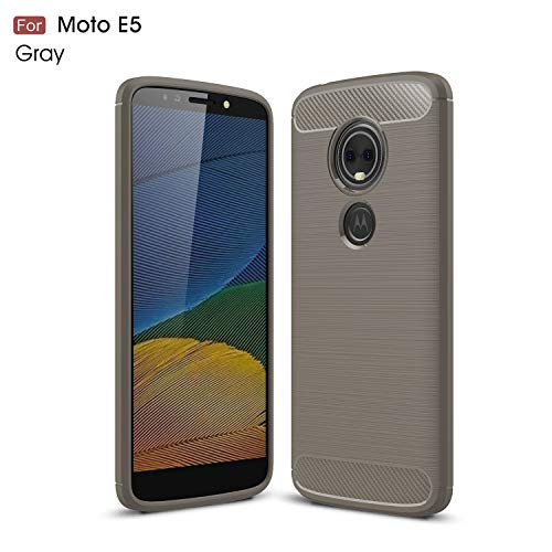 Motorola Moto E5 Case (XT1920DL) YMH Durable Armor and Resilient Shock Absorption TPU Raised Bezels Protective Case Cover for Moto E5 (Tracfone, Simple Mobile, Straight Talk, Total Wireless) (Grey)