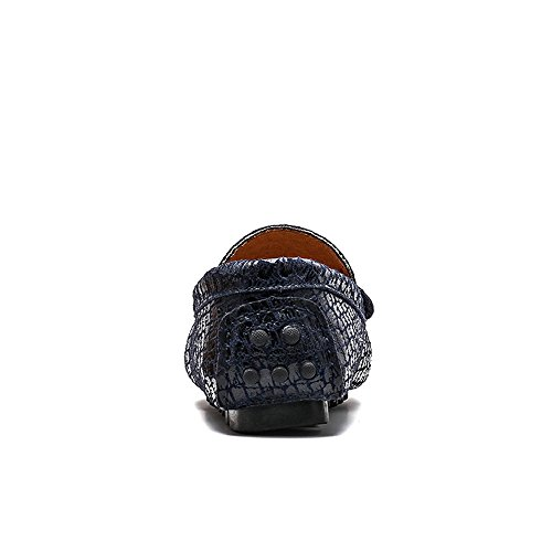Dimensione Faux Xiazhi uomo EU 36 Mocassini caldo Dress fibbia Color shoes Militare Marina da Mocassini opzionale Texture Alligator Casual Metallo Business tqrIqUw