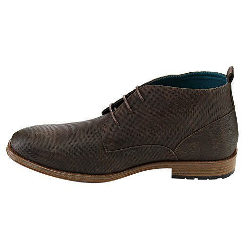 Arider AD06 Men's Lace Up Desert Chukka Ankle Boots Brown