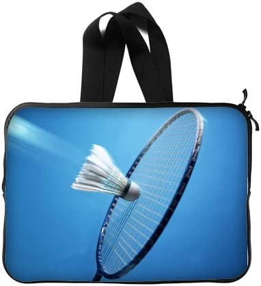 Deporte tema pelota de bádminton raqueta Custom Laptop Sleeve Case ...