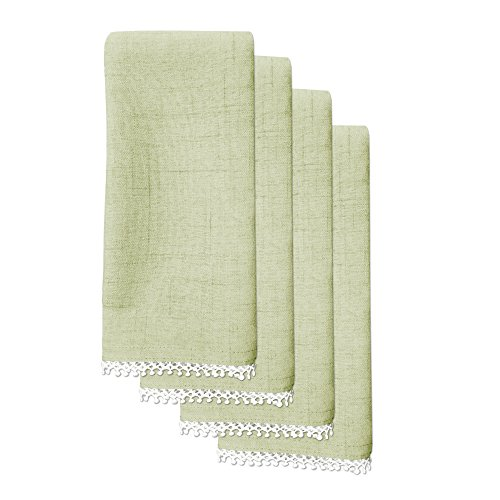 Lenox French Perle Solid Set of 4 Napkins, Pistachio ()