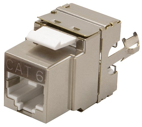 Allen Tel AT66SH 110 Termination, 8 Position, 8 Conductor Jack Module with 1 Port, TIA/EIA-568-B.2-1 Wiring, Silver