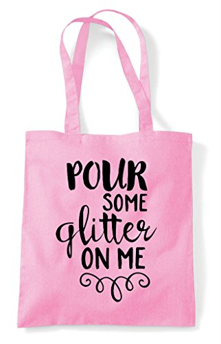 Some On Pour Shopper Bag Me Pink Light Statement Glitter Tote aS6xw6