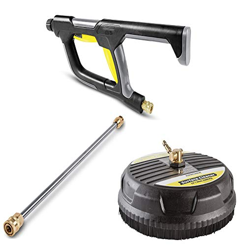 Karcher Pressure Washer Surface Cleaner Attachment, 3200 PSI Rating Set ((Combined) Deluxe Pack: Pressure Washer Attachment Set)