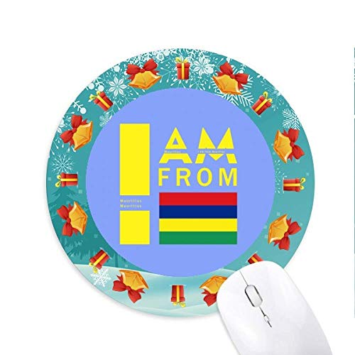 I Am from Mauritius Mousepad Round Rubber Mouse Pad Christmas Gift