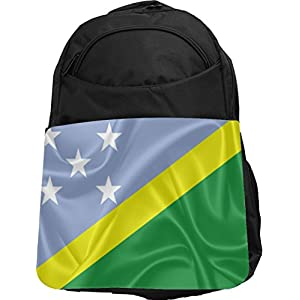 Rikki Knight UKBK Solomon Islands Flag Tech BackPack - Padded for Laptops & Tablets Ideal for School or College Bag BackPack