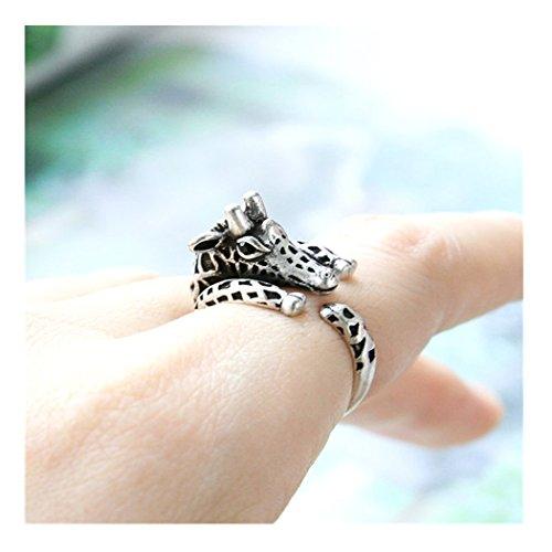 - Giraffe Ring Adjustable Ring Animal Ring Everyday Ring