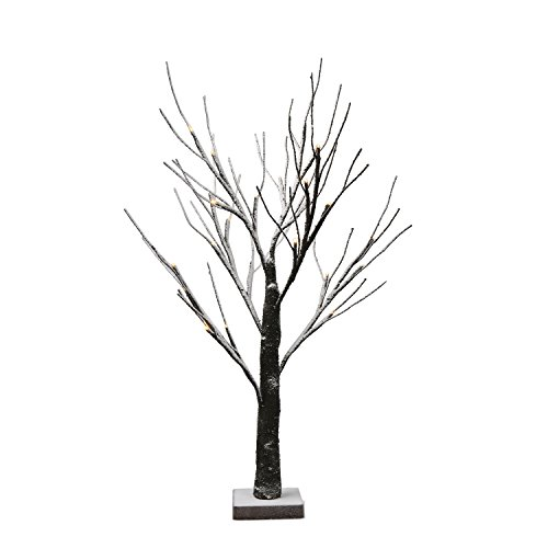 EAMBRITE Battery-Operated 24'' Snow Bonsai Tree Lights with 24 Warm White LED for Indoor use Tabletop Tree Light for Home Decor by EAMBRITE (Image #5)
