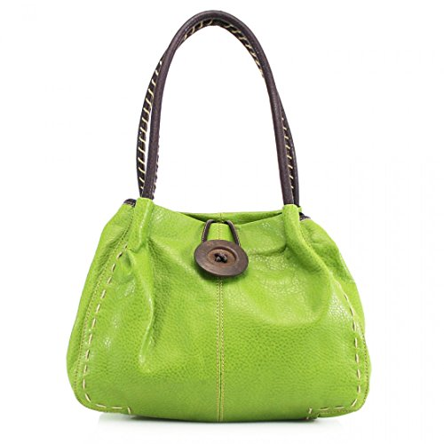 Bag Green Wood Women's Button Women's Handbag Designer Faux Leather CWRX140731 Flexible Stunning Shoulder LeahWard Quality HwCqU8