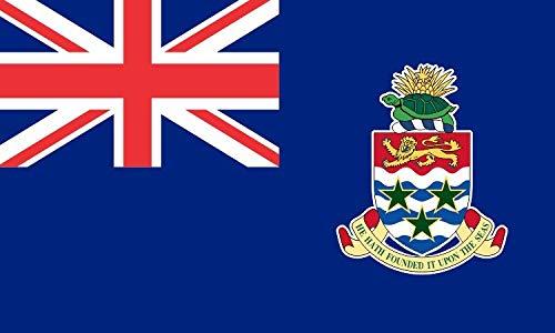 (5in x 3in Grand Cayman Islands Flag Sticker Car Truck Vehicle Bumper Decal )