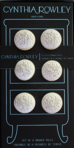 (Cynthia Rowley Set of 6 Drawer Pulls/Knobs - Antique White &)