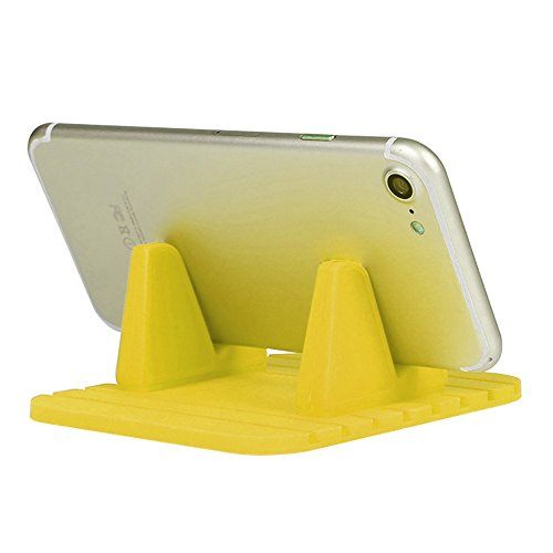 ( Orcbee  _Car Silicone Dash Pad Mat Anti-Slip Phone Bracket Desktop Holder for Smartphones (Yellow))