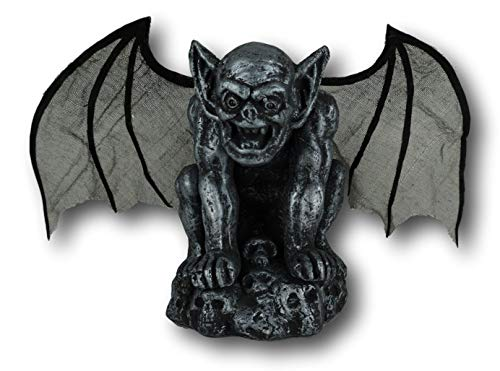 Animated Gargoyle with Light-up Red Eyes Flapping Wings