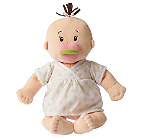 """Manhattan Toy Baby Stella Sweet Sounds Soft Nurturing First Baby Doll for Ages 1 Year and Up, 15"""""""