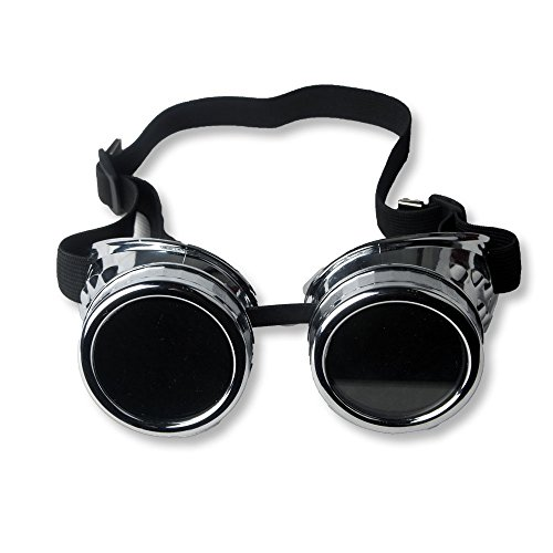 FUT ABS Steampunk Goggles- Halloween Cosplay Goggles, Photo Costume Props Vintage Glass -