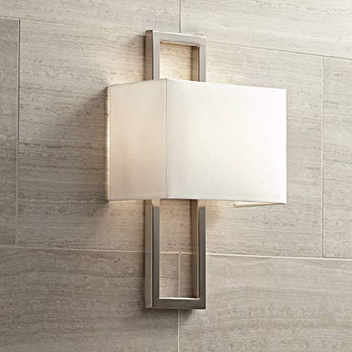 "Possini Euro Brushed Nickel 15 1/2""H Rectangular Wall Sconce - Possini Euro Design"