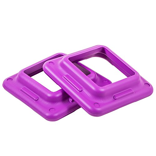 The Step Original Health Club Aerobic Step Riser  Violet  Pair  91123