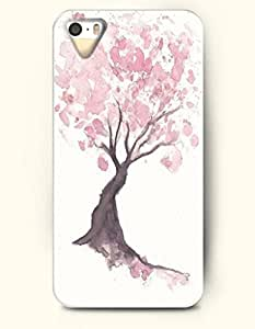Phone Case For iPhone 5 5S Pink Tree - Hard Back Plastic Case / Oil Painting / OOFIT Authentic
