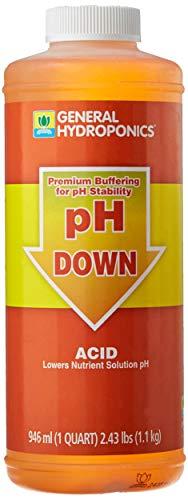 General Hydroponics HGC722120 Liquid Premium Buffering for pH Stability, Quart, Orange