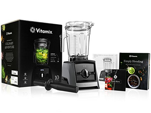 Vitamix A2500 Ascent Series Blender with 64-Ounce Container + Vitamix Simply Blending Blending Recipe Cookbook + Low-Profile Tamper + 10-Year Full Warranty – Slate For Sale