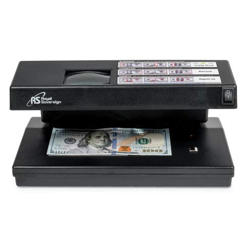 Portable 4-Way Counterfeit Detector, UV, Fluorescent, Magnetic, Magnifier