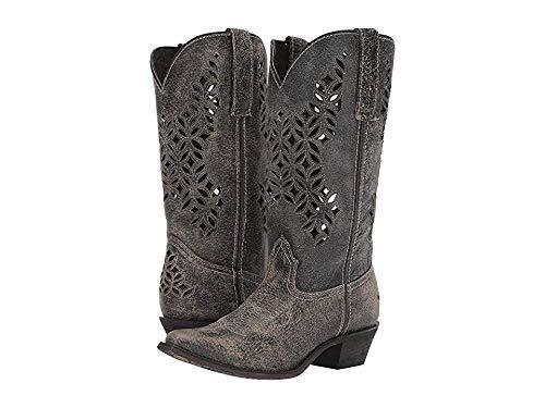 Laredo Women's Chopped Out Western Boot Snip Toe Grey 9.5 M