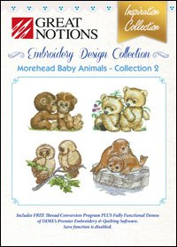 Great Notions Embroidery (Great Notions Embroidery Design Collection - Morehead Baby Animals - Collection 2)