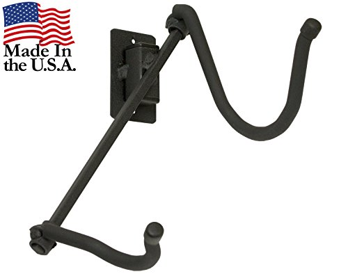 String Swing Saxophone Hanger - Wall Mount Holder for Alto or Tenor Sax - Stand Accessories Home or Band Room Studio Wall - Musical Instruments Safe without Hard Cases - Made in USA ()