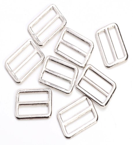 50pc Metal Square Ring Buckle DIY Luggage Belt Shoe Doll Hat Slide Making Sewing Craft Inside Width 20mm
