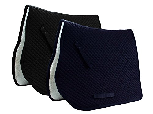 Derby Originals Fleece Lined Dressage Saddle Pad , (Lined Saddle)