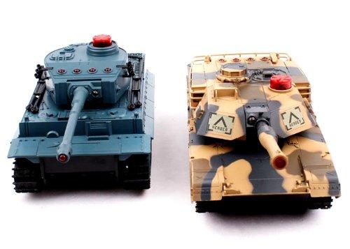 M1A2 Abrams vs. Tiger I Combat Fight Tanks RC 1/32 IR Battle Tank with Sound & Vital Force - Ir Tanks Battle