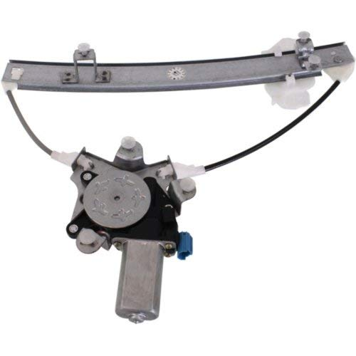 Window Regulator Compatible with HYUNDAI ELANTRA 1996-2000 Front and Rear Right Side and Left Side Set of 4 Power with Motor