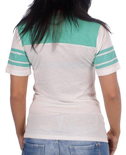 JUNK FOOD Damen T-Shirt Little Miss Naughty White