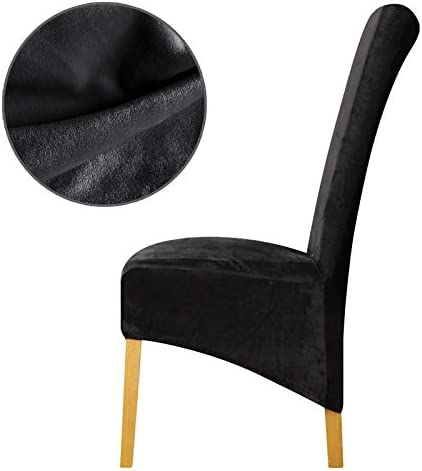 XL Chair Cover Velvet Fabric Long Back Europe Style Seat Dining Party Restaurant