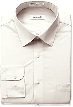 Pierre cardin men 39 s classic fit solid broadcloth semi for Semi spread collar shirt