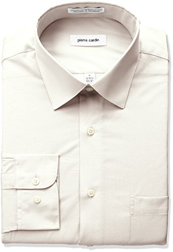 pierre-cardin-mens-classic-fit-solid-broadcloth-semi-spread-collar-shirt-ecru-16-165-neck-32-33-slee
