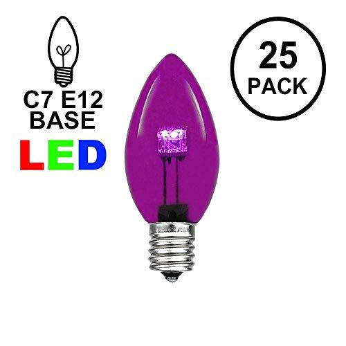 Purple C7 Led Christmas Lights