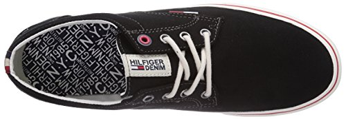 Hilfiger Denim VIC 1D - 1 Herren Sneakers Schwarz (BLACK 990)