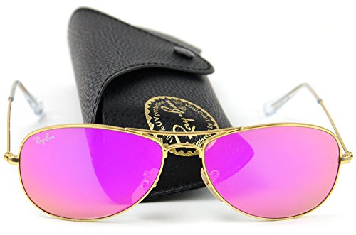 Ray Ban RB3362 Cockpit Sunglasses Aviator Gold 112/4T 59 mm (Pink Ray Ban Aviators)