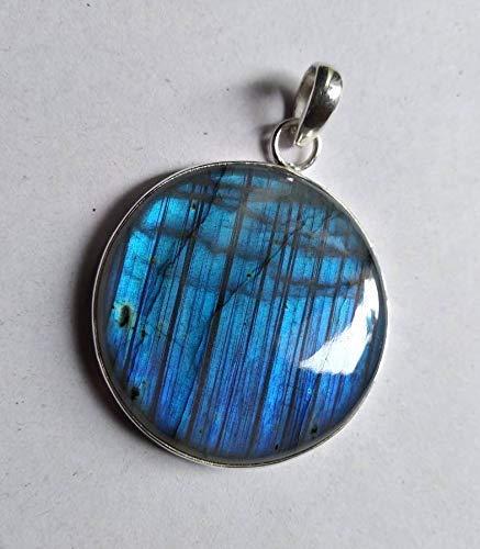 925 Sterling Silver Labradorite Pendant,Labradorite Boho Silver Necklace,Sterling Silver Necklace,Blue Pendant,Silver Jewelry,Birthday Gifts