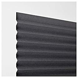 IKEA ASIA SCHOTTIS Block-Out Pleated Blind, Dark Grey