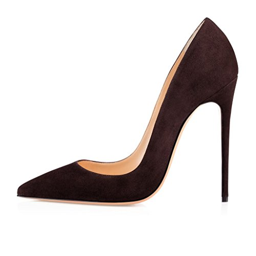 chocolate brown pumps - 6