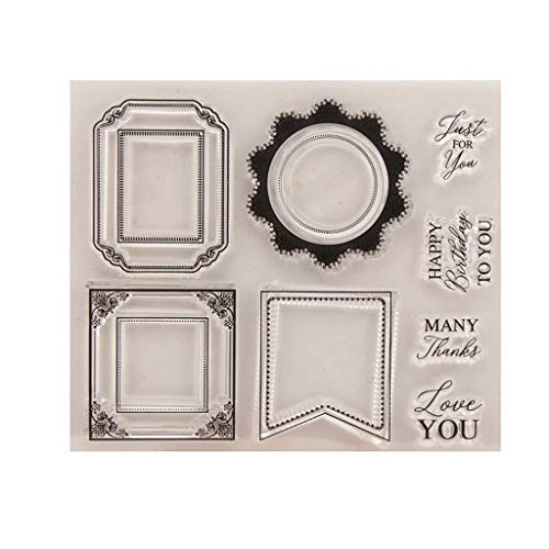 GMSP Cover Page Silicone Clear Stamp Cling Seal DIY Scrapbook Embossing Album Decor -