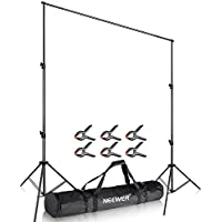 Neewer Pro Background Stand Support System 10 x 12 feet/3 x 3.6 meters with 6 Pieces Heavy Duty Backdrop Clamps for Photo Studio Portrait Product Photography Video Shooting