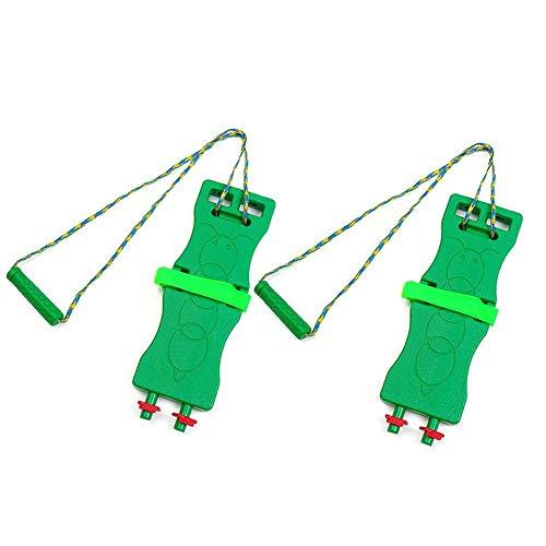 Child Rocking Seesaw Balance Board Sensory Training Outdoor Toy (Green) ()